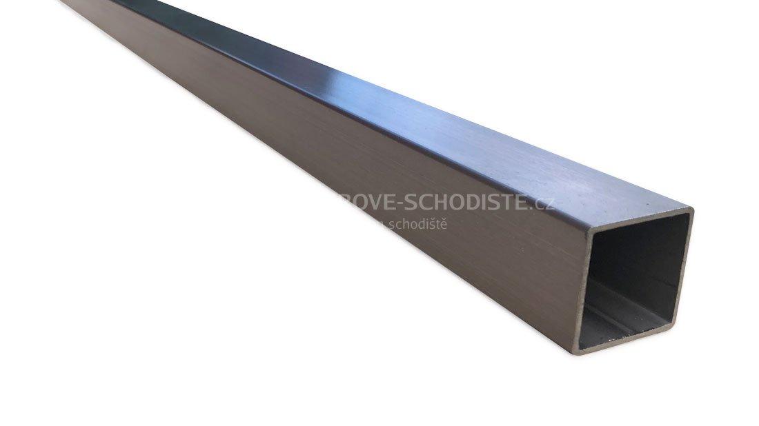 Kantiger rostfreier Geländerhandlauf 40x40 mm – 5 m