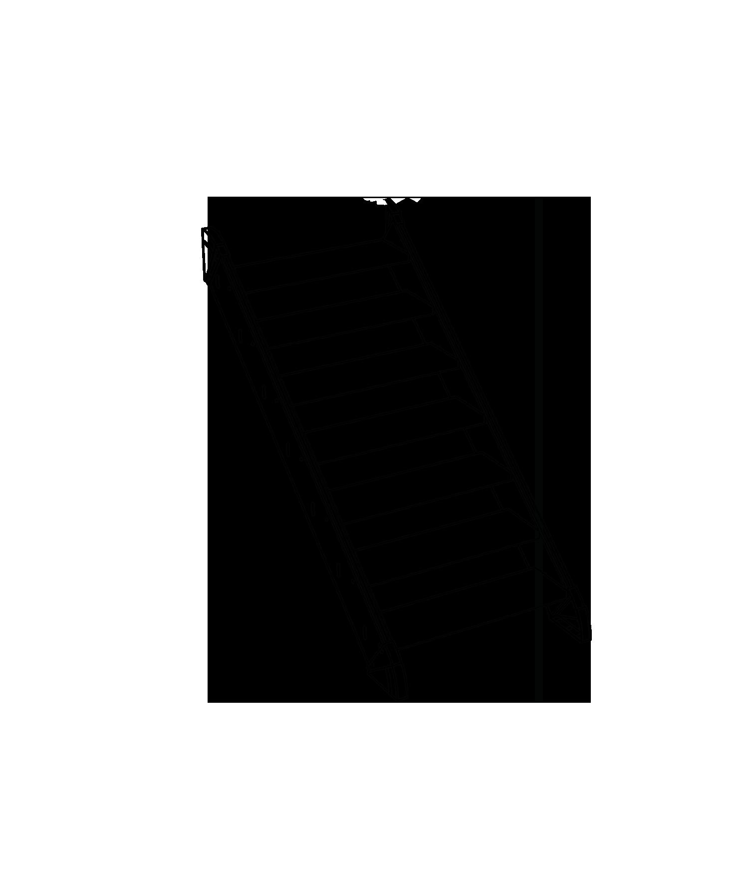 Gerade Treppe ohne Podest