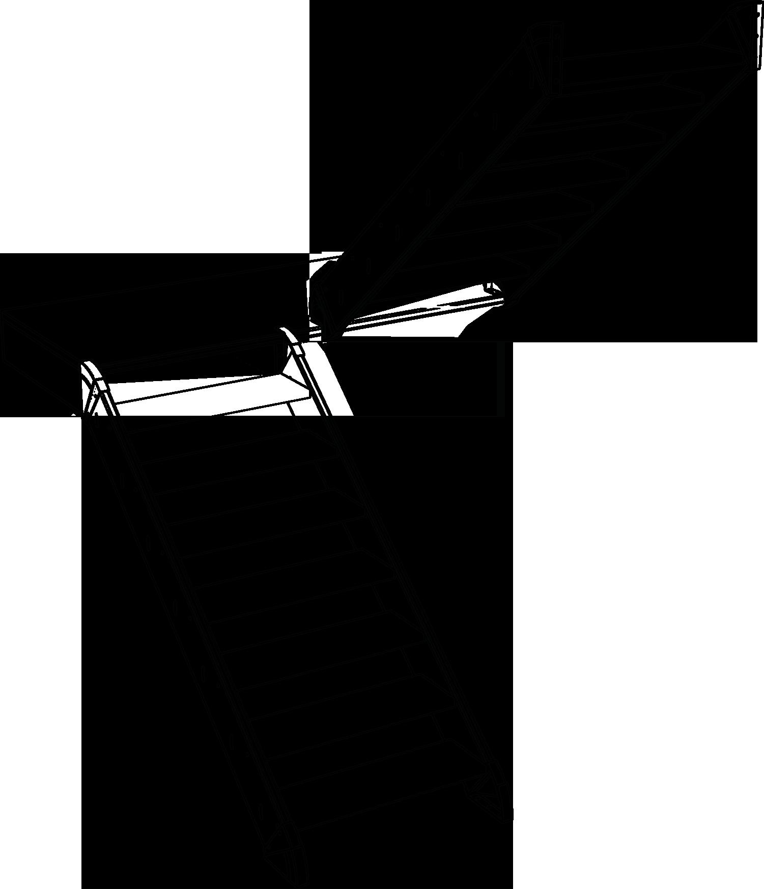 U-Treppe mit Halbpodest