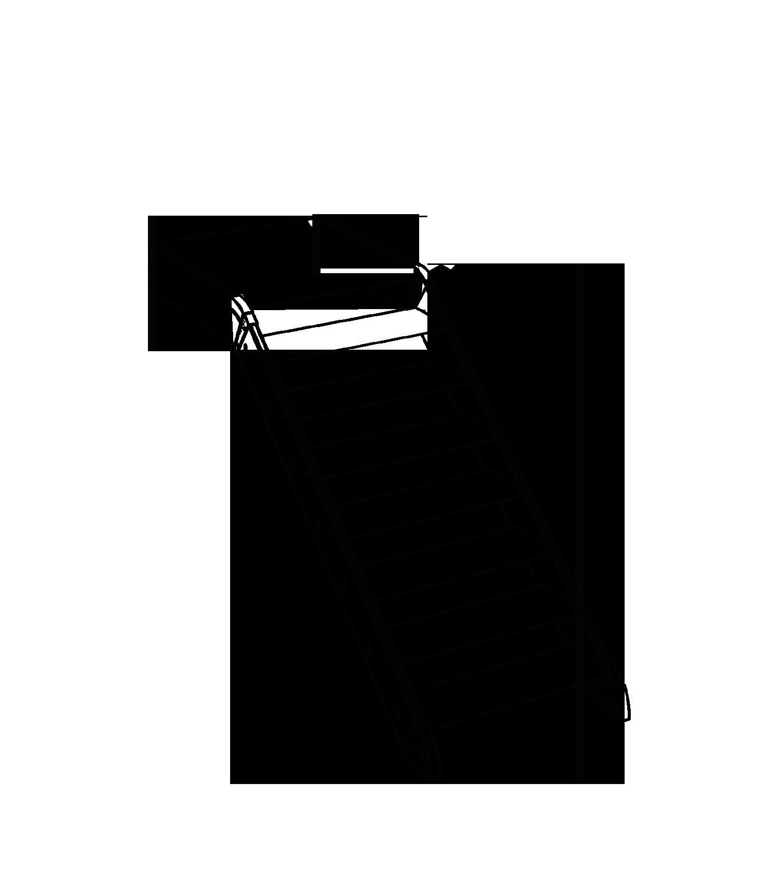 Gerade Treppe mit Podest